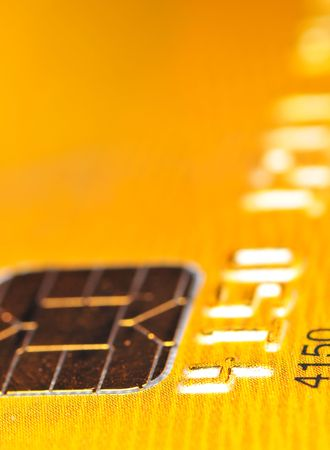 Gold credit card abstraction Stock Photo - 2316558