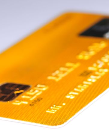 Gold credit card abstraction Stock Photo - 2316539