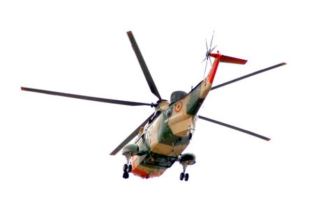 helicopter of Belgian air force Stock Photo