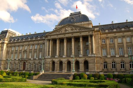 Royal palace in Brussels photo