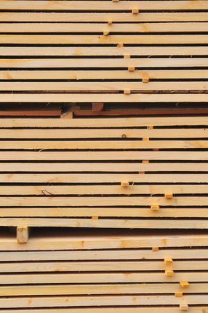 Stack of prepared wood Stock Photo