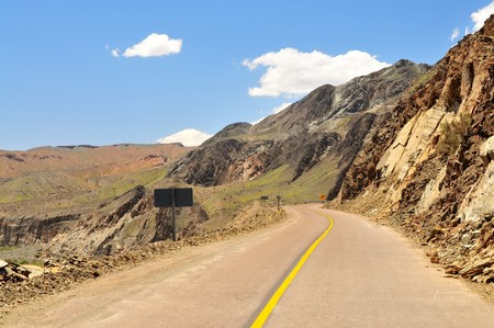 Curved road in western Argentina