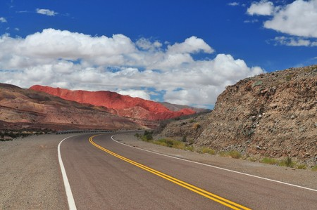 Road near Rumi Raya, provincia Catamarca, Argentina Stock Photo