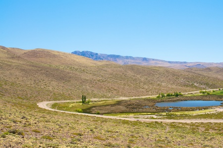 Hill in desert od Argentina Stock Photo