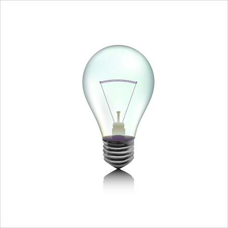 Detail illustration of incandescent gray lamp or bulb Ilustração