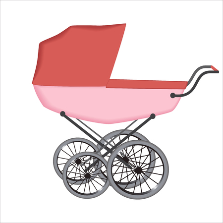 The  buggy or carriage for baby