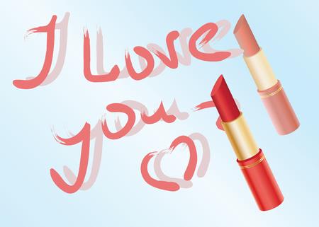 Declaration of love written by lipstick on a mirror