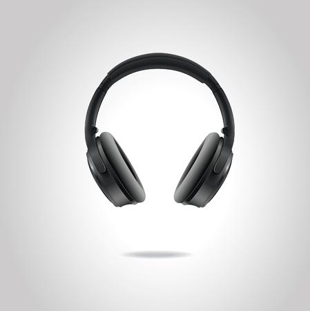 Vector studio headphones isolated on white background. EPS10.