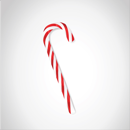 Candy cane or lollipop stick isolated on white.