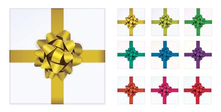 Colorful ribbon gift.
