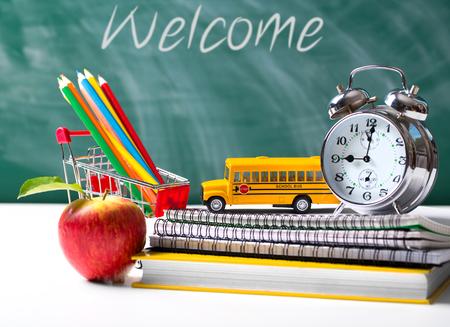 Back to school concept. School supplies