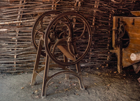 chaff: Ancient tool for cutting straw chaff cutter