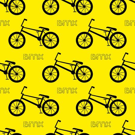 bicicleta vector: patrón de la bicicleta sin fisuras. bicicleta BMX. ilustración vectorial