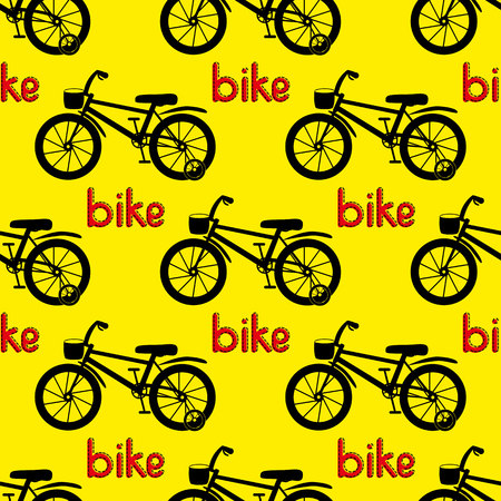 bike cover: Seamless bicycle pattern. Kids bike. Vector illustration Illustration