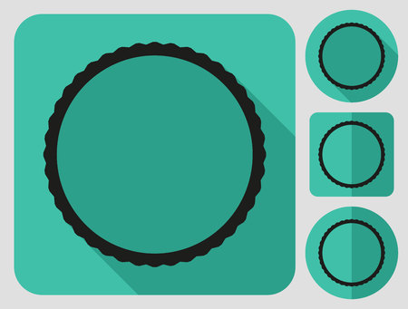 bike parts: Tire icon. Bike parts. Flat long shadow design. Bicycle icons series. Illustration