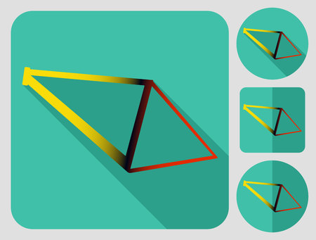 bike parts: Frame icon. Bike parts. Flat long shadow design. Bicycle icons series.