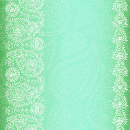 east indian: Floral paisley background with place for your text. Vector illustration Illustration