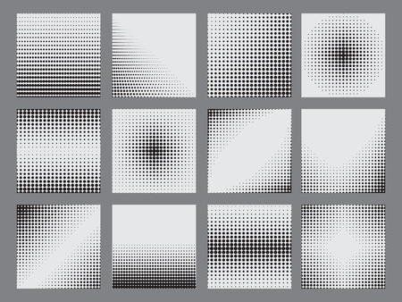 doted: Halftone dots on white background. Vector illustration Illustration