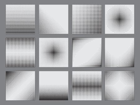 Points de demi-teintes sur fond blanc. Illustration vectorielle