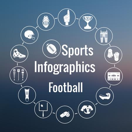 nfl helmet: Set of sport icons, signs and symbols. Illustration