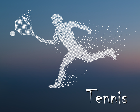 Halftone dots, The player plays tennis
