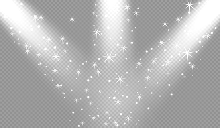 Spotlights scene light effects. Vector illustration