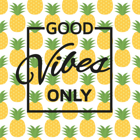 vibes: Good vibes only background. Vector illustration. Illustration