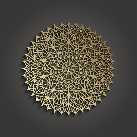 solar plexus: Chakra Sahasrara pictogram. Yoga symbol. Vector illustration.