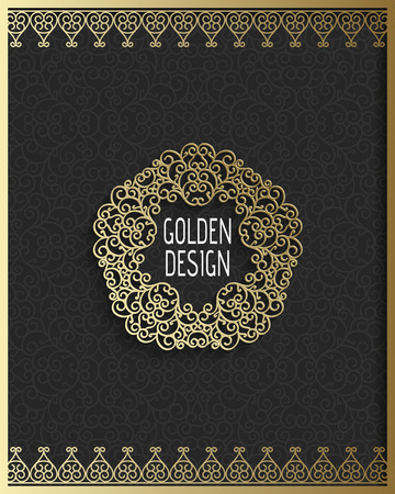 Ornate vintage background with linear frames and borders. Vector illustration. Illustration