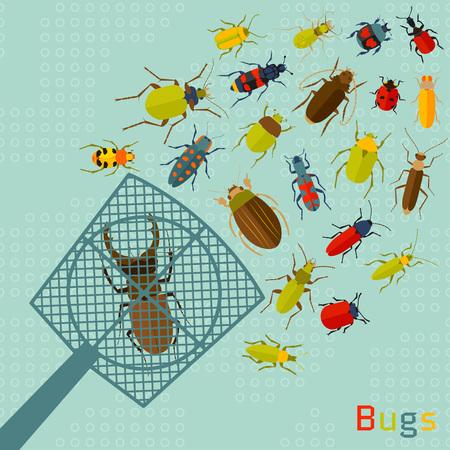 programs: Testing programs concept. Errors in software. Vector illustration Illustration