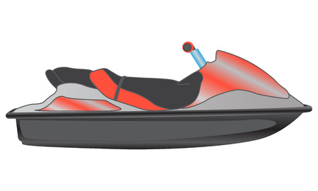 personal watercraft: Personal watercraft isolated on white background, vector illustration Illustration