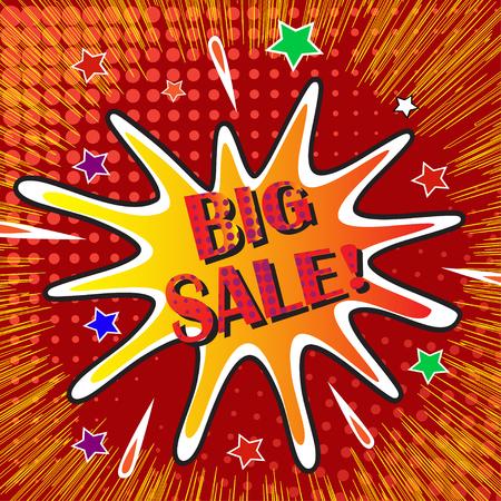 Big sale banner template design, vector illustration