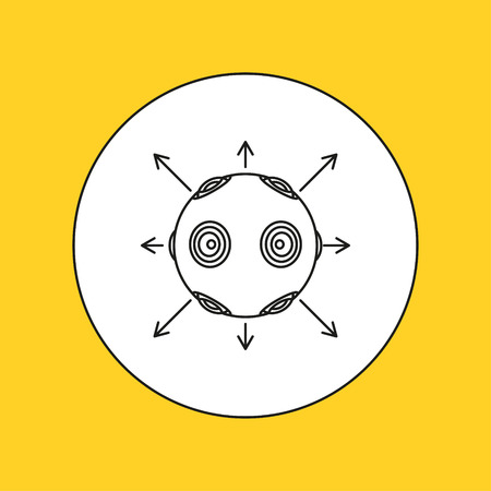 interactivity: Vr camera line icon. Vector illustration.