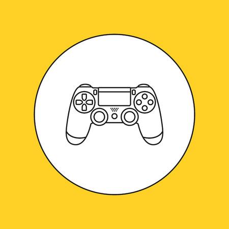 interactivity: Control device line icon. Vector illustration.