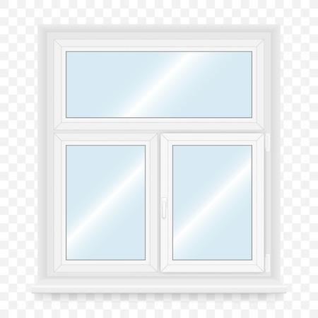 plastic window: Realistic white plastic window. Vector illustration. Illustration