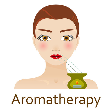 alternative medicine: Alternative Medicine icon. Aromatherapy. Vector illustration. Illustration