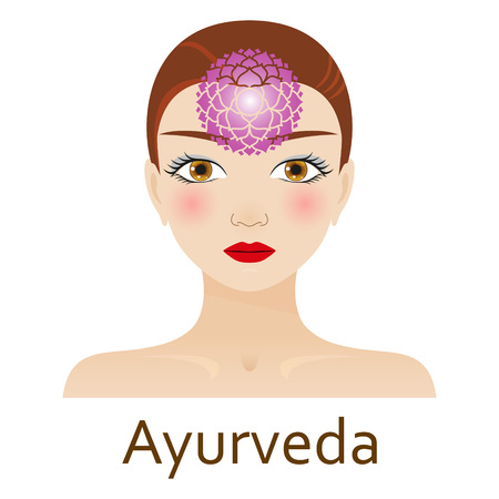 alternative medicine: Alternative Medicine icon. Ayurveda. Vector illustration.
