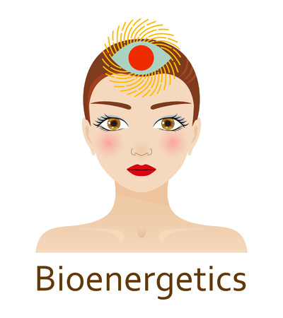 third eye: Alternative Medicine icon. Bioenergetics. Vector illustration.
