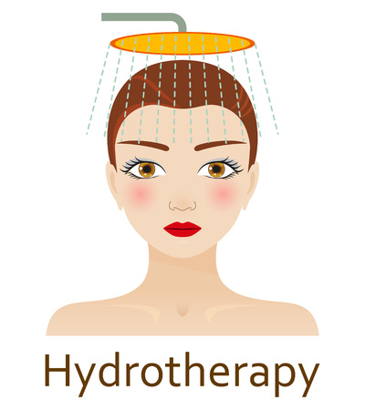 hydrotherapy: Alternative Medicine icon. Hydrotherapy. Vector illustration.