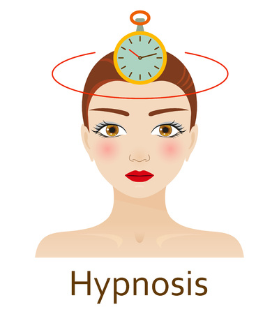 alternative medicine: Alternative Medicine icon. Hypnosis. Vector illustration.