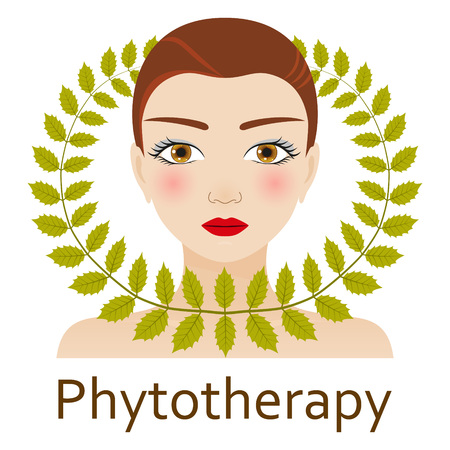 Alternative Medicine icon. Phytotherapy. Vector illustration.
