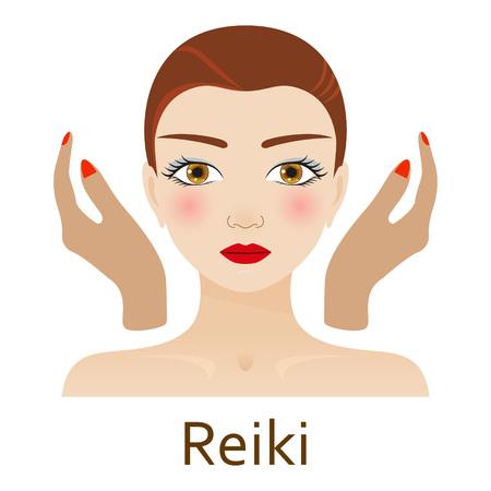 reiki: Alternative Medicine icon. Reiki. Vector illustration.