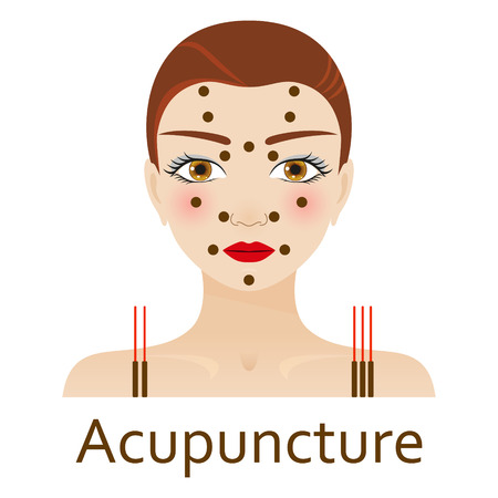alternative medicine: Alternative Medicine icon. Acupuncture. Vector illustration. Illustration