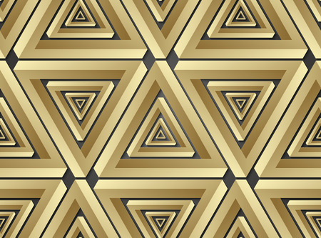 paradox: Geometric seamless pattern made shapes. Vector illustration