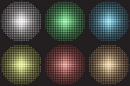 illustration of a music equalizer, soundlights for dance floor, disco. Illustration