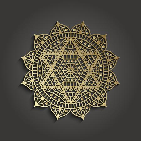 Yoga studio business template with chakra Anahata pictogram. illustration.