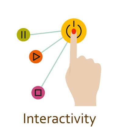 Interactivity line icon. illustration.