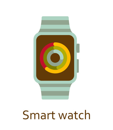Smart watch. Colorful illustration. Illustration
