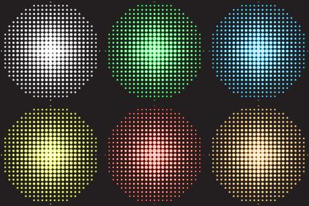 Vector illustration of a music equalizer, soundlights for dance floor, disco.