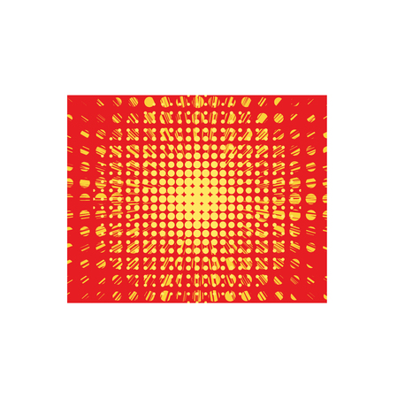 incineration: Abstract creative concept vector comics pop art style blank layout and isolated dots pattern on background.